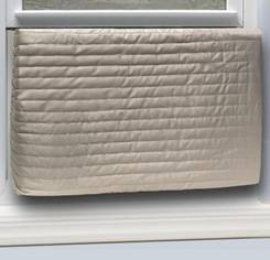 Quilted inside air conditioner cover