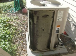 Condenser unit not cleaned