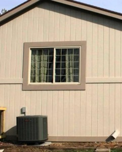 Wall Covered by Plywood Siding